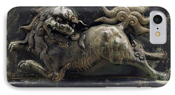Temple Lion Of Nara Japan IPhone Case by Daniel Hagerman