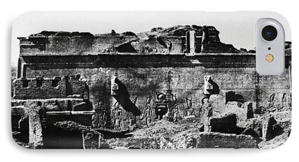 Temple Of Hathor, 1850 IPhone Case by Granger