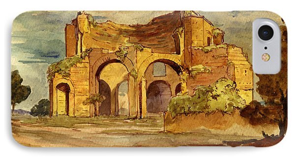 Temple Of Minerva Rome IPhone Case by Juan  Bosco