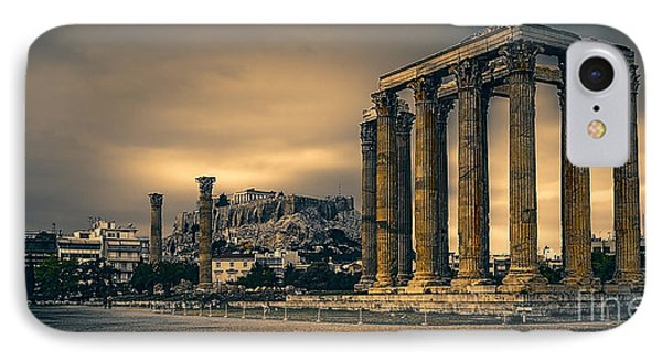 Temple Of Zeus IPhone Case by Paul Woodford