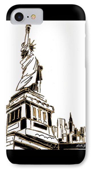 Tenement Liberty IPhone 7 Case by Nicholas Biscardi