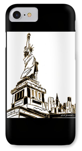 Tenement Liberty IPhone Case by Nicholas Biscardi