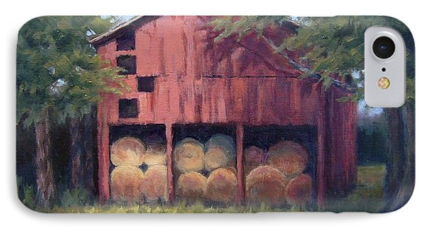 Tennessee Barn With Hay Bales Phone Case by Janet King