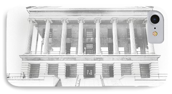 Tennessee Capitol Building Sketch IPhone Case by Dan Sproul