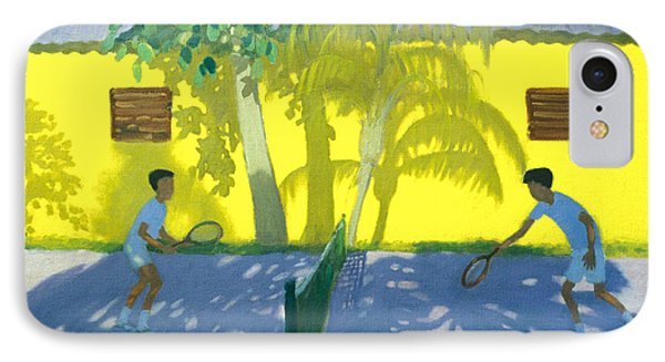 Tennis  Cuba IPhone Case by Andrew Macara
