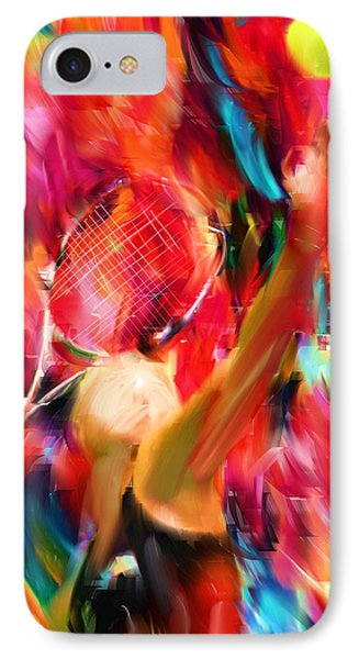 Tennis I IPhone Case by Lourry Legarde