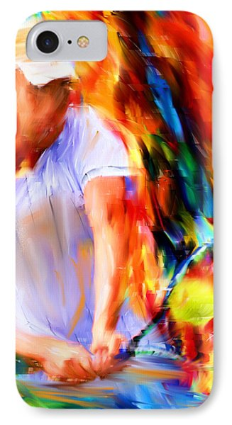 Tennis II IPhone Case by Lourry Legarde