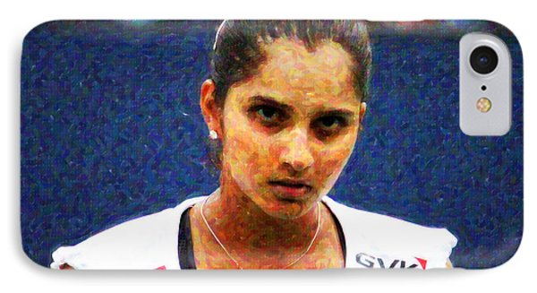Tennis Player Sania Mirza IPhone Case by Nishanth Gopinathan