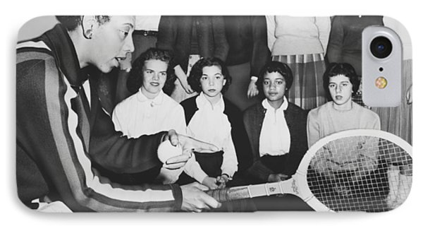 Tennis Star Althea Gibson IPhone Case by Ed Ford