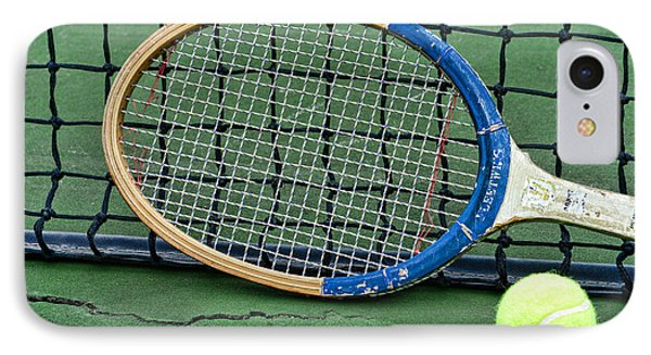 Tennis - Vintage Tennis Racquet IPhone Case by Paul Ward