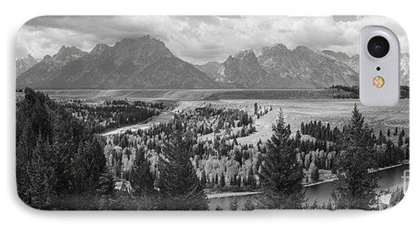 Teton Mountain Range Panorama IPhone Case by Vishwanath Bhat