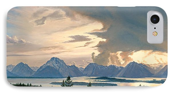 Teton Range From Signal Mountain Phone Case by Paul Krapf