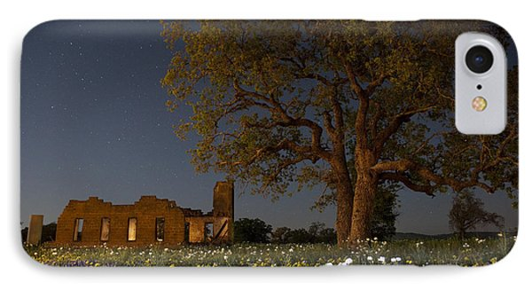 Texas Blue Bonnets At Night IPhone Case by Keith Kapple