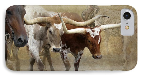 Texas Longhorns IPhone Case by Angie Vogel
