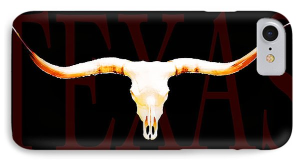 Texas Longhorns By Sharon Cummings IPhone 7 Case by Sharon Cummings