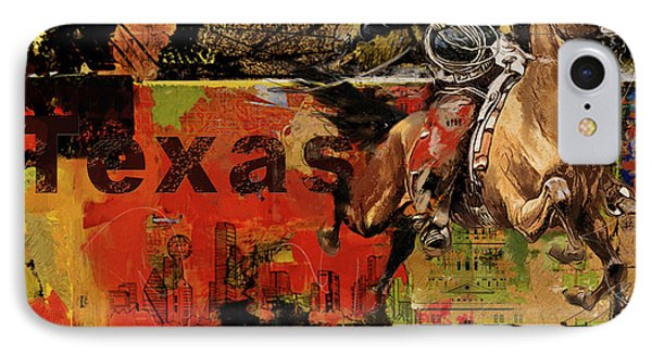 Texas Rodeo IPhone Case by Corporate Art Task Force