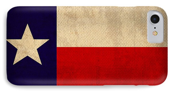 Texas State Flag Lone Star State Art On Worn Canvas IPhone Case by Design Turnpike