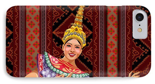 Thai Dancer IPhone Case by Bedros Awak