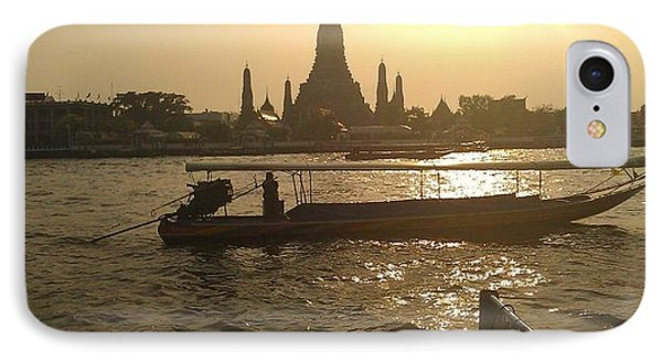 Thai Sunset IPhone Case by Ted Williams
