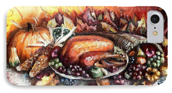 Thanksgiving Dinner Phone Case by Shana Rowe Jackson