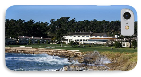 The 18th At Pebble Beach IPhone Case by Barbara Snyder
