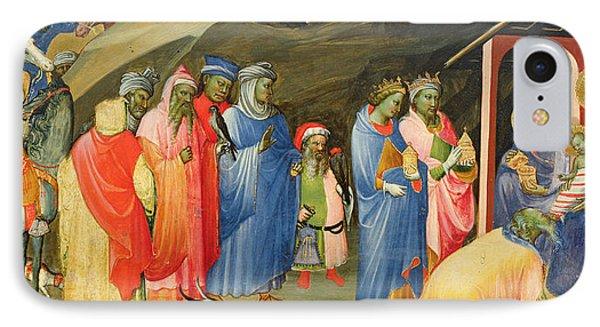 The Adoration Of The Magi IPhone Case by Gherardo Starnina