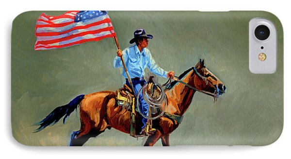The All American Cowboy IPhone Case by Randy Follis
