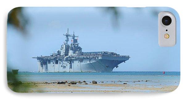 The Amphibious Assault Ship Uss Boxer  Phone Case by Paul Fearn
