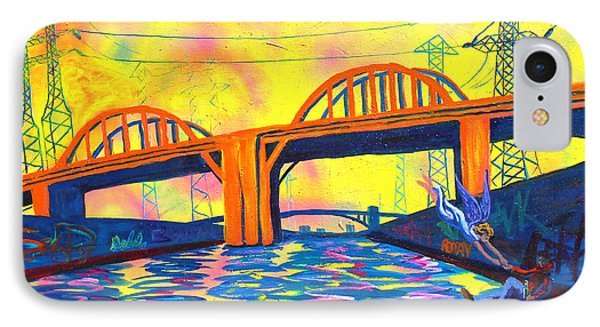 The Angel Of Sixth Street Bridge IPhone Case by Sean Boyce