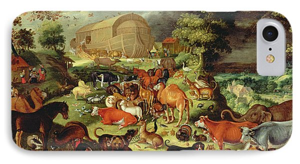 The Animals Entering The Ark IPhone Case by Jacob II Savery