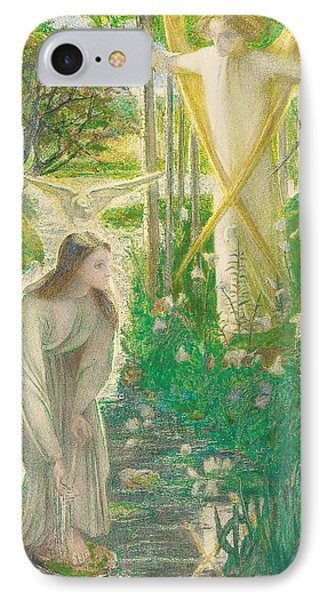 The Annunciation, 1855 IPhone Case by Dante Gabriel Charles Rossetti