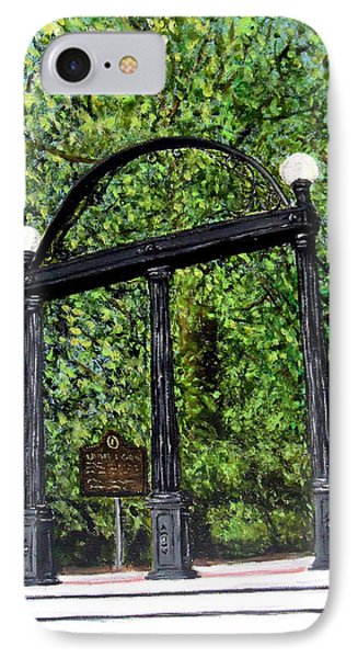 The Arch - University Of Georgia- Painting IPhone 7 Case by Katie Phillips