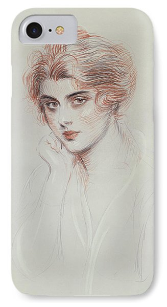 The Artists Daughter IPhone Case by Paul Cesar Helleu