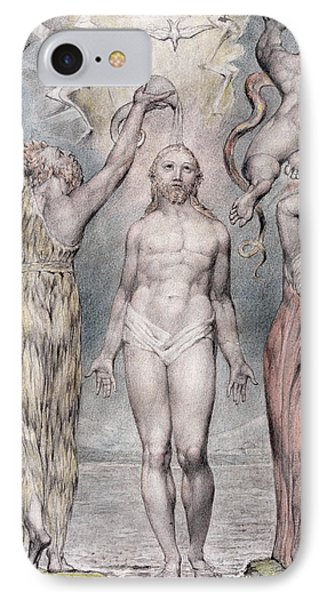 The Baptism Of Christ IPhone Case by William Blake
