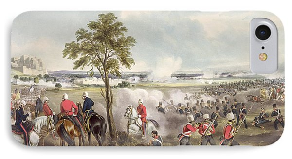 The Battle Of Goojerat On 21st February Phone Case by Henry Martens