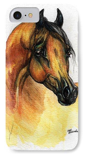 The Bay Arabian Horse 14 Phone Case by Angel  Tarantella