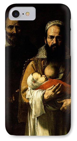 The Bearded Woman Breastfeeding, 1631 IPhone Case by Jusepe de Ribera
