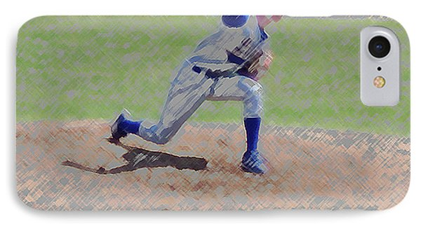 The Big Baseball Pitch Digital Art Phone Case by Thomas Woolworth