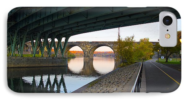 The Bike Path Along The Schuylkill River IPhone Case by Bill Cannon