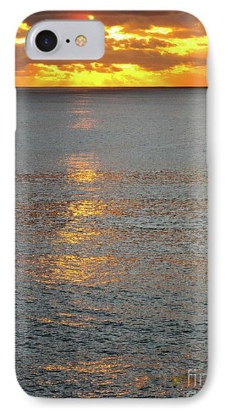 The Black Sea In A Swath Of Gold Phone Case by Phyllis Kaltenbach