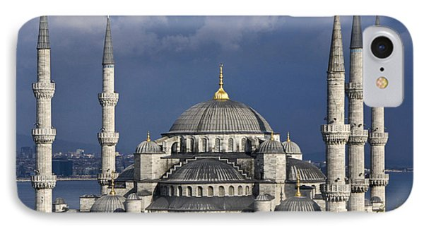 The Blue Mosque In Istanbul Phone Case by Michele Burgess