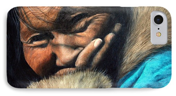 The Blue Parka IPhone Case by Joey Nash