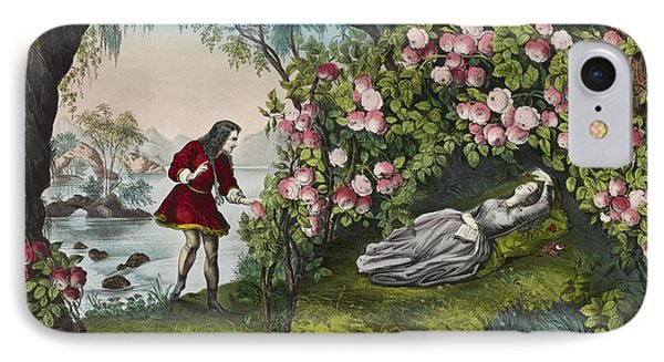 The Bower Of Roses Circa 1856 IPhone Case by Aged Pixel