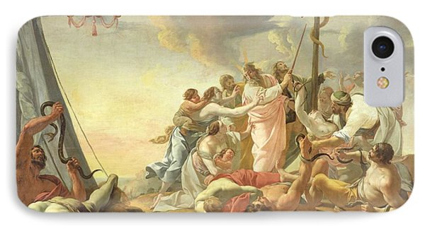 The Brazen Serpent, Right Hand Section Oil On Canvas IPhone Case by Simon Vouet