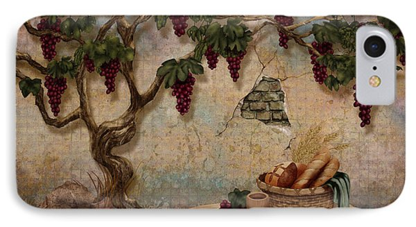 The Bread And The Vine IPhone Case by April Moen