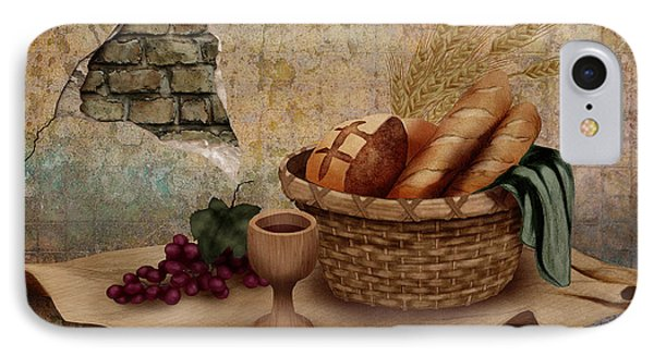 The Bread Of Life IPhone Case by April Moen