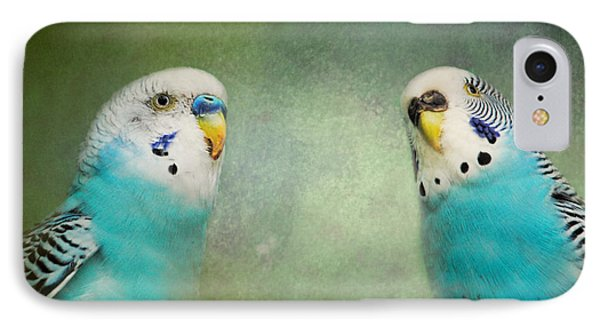 The Budgie Collection - Budgie Pair IPhone Case by Jai Johnson