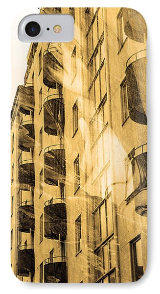 The Building And The Mystery Woman IPhone Case by Toppart Sweden