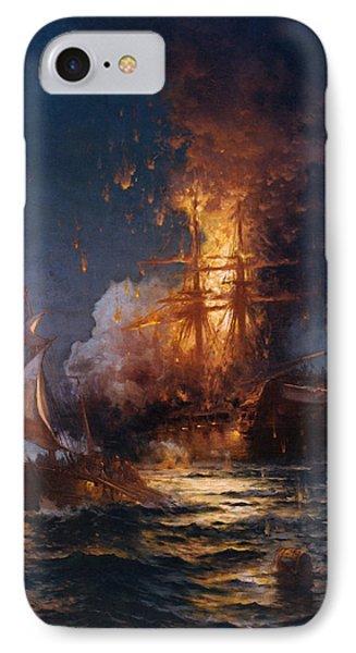 The Burning Of The Philadelphia IPhone Case by Edward Moran