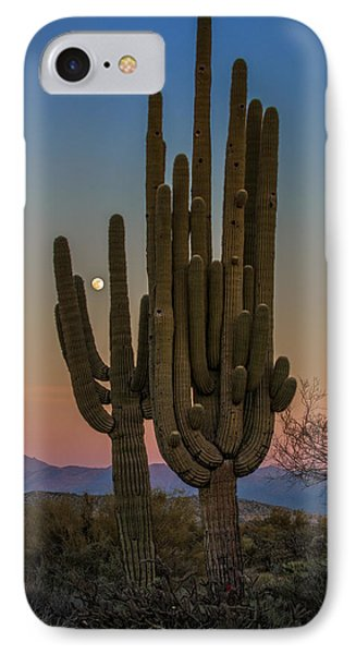 Moonrise Over Tonto IPhone Case by Rick Berk